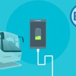 Autobuses públicos con cargadores para el móvil