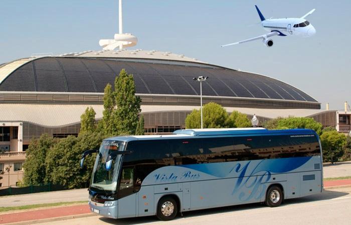 viajar del aeropuerto en autobus desde el aeropuerto al hotel