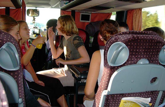viajar en autobus actividades