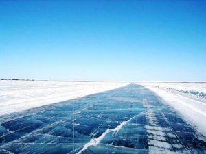 hielo carretera