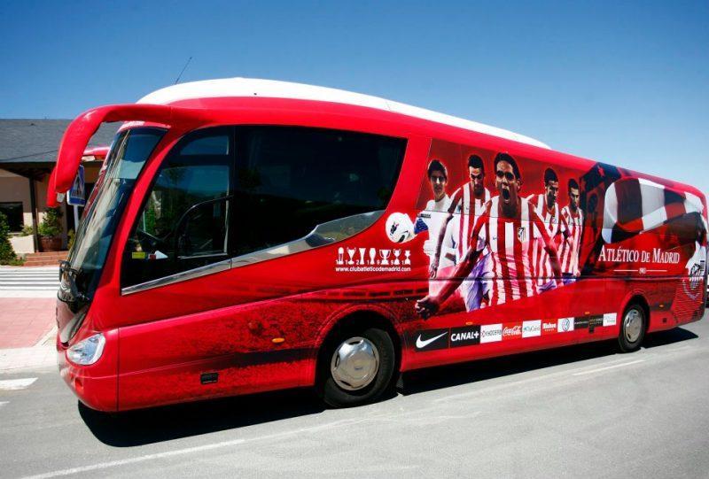 autocar atletico de madrid